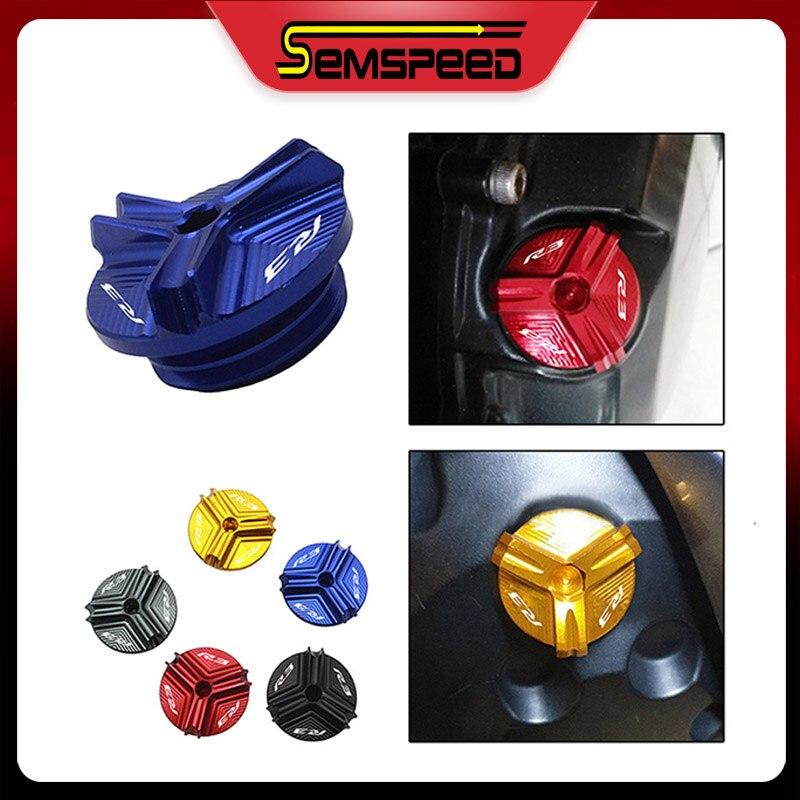 Motocicleta CNC tapón de llenado de aceite de motor para YamahaYZF-R3 yzf-r3 R3 2015-2019 Semspeed accesorios de la motocicleta M20 * 2,5