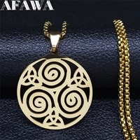 2021 fashion knot vortex stainless steel chain necklaces for womenmen glod color statement necklace jewelry gargantill n4115s02