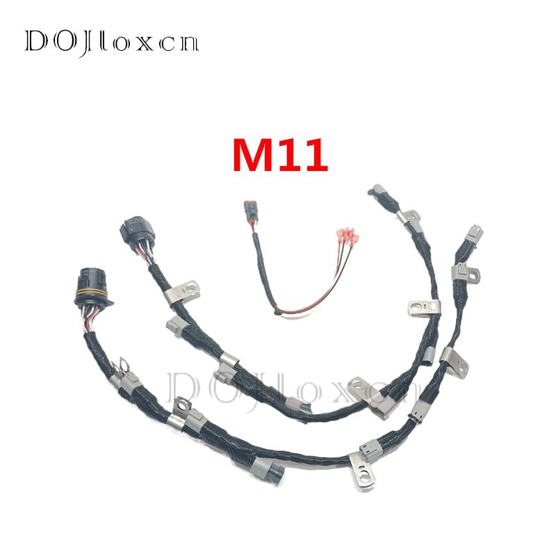 1 مجموعة 8/15 حفرة الكمون ISM11-385 M11-420 فوهة القاذف ذكر أنثى اتصال قابس كوابل مجمعة 2864504 2864516