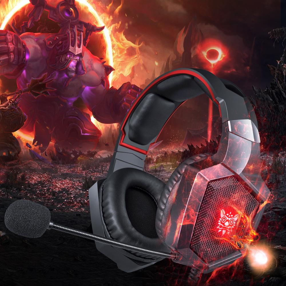 Overhead RGB Gaming Headset Wired Headset with Noise Cancelling Microphone Game Headphone for PS XBOX PC Laptop Phone enlarge