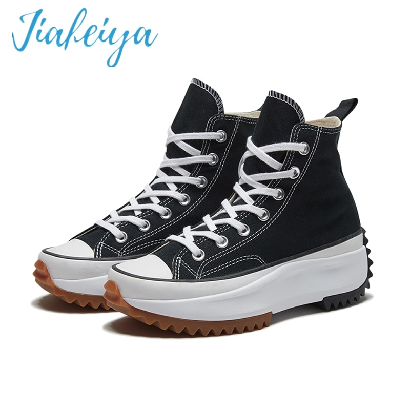 JIAFEIYA2021 جديد قماش Wo أحذية رجالي شبكة تنفس سميكة سوليد أحذية مفلكنة حذاء كاجوال أحذية رجالي عشاق الأحذية
