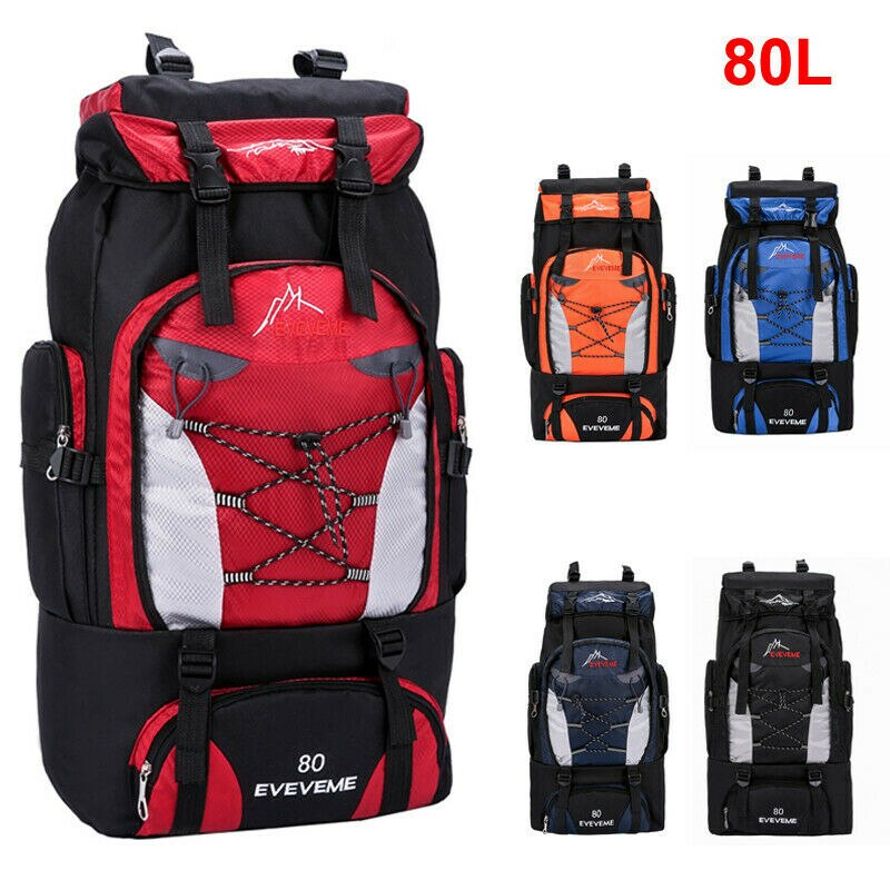 Novo 2020 unisex grande mochila de viagem à prova dwaterproof água caminhadas acampamento trekking bagagem saco esporte viagem 80l