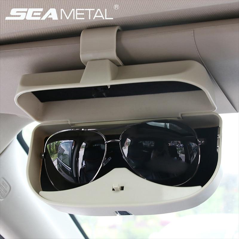 Car Sunglasses Holder Glasses Case Car Sun Visor Box Mounting Stowing Tidying Sunshade Organizer Pocket Car Interior Accessories