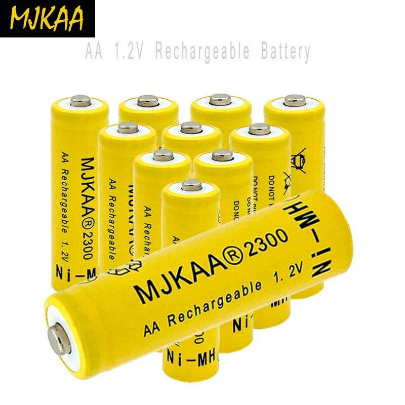 2019 Ni-MH 1,2 V 2300mAh AA batería recargable de níquel-metal hidruro 14mm * 50mm