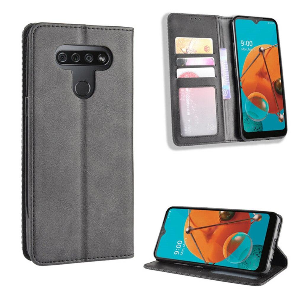 Роскошный чехол-книжка из искусственной кожи для LG K51, магнитный чехол-бумажник для LG Q51 K 51 Q 51 LGK51 LGQ51