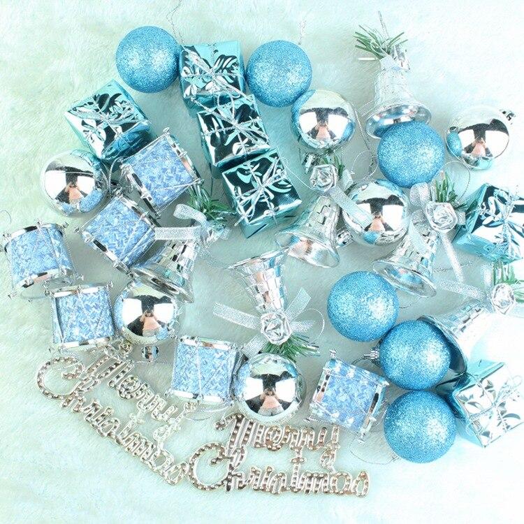 1 Set 32 Uds. Bola de decoración de árbol de Navidad adornos decorativos con forma de bola para colgar para el regalo de decoraciones navideñas caseras