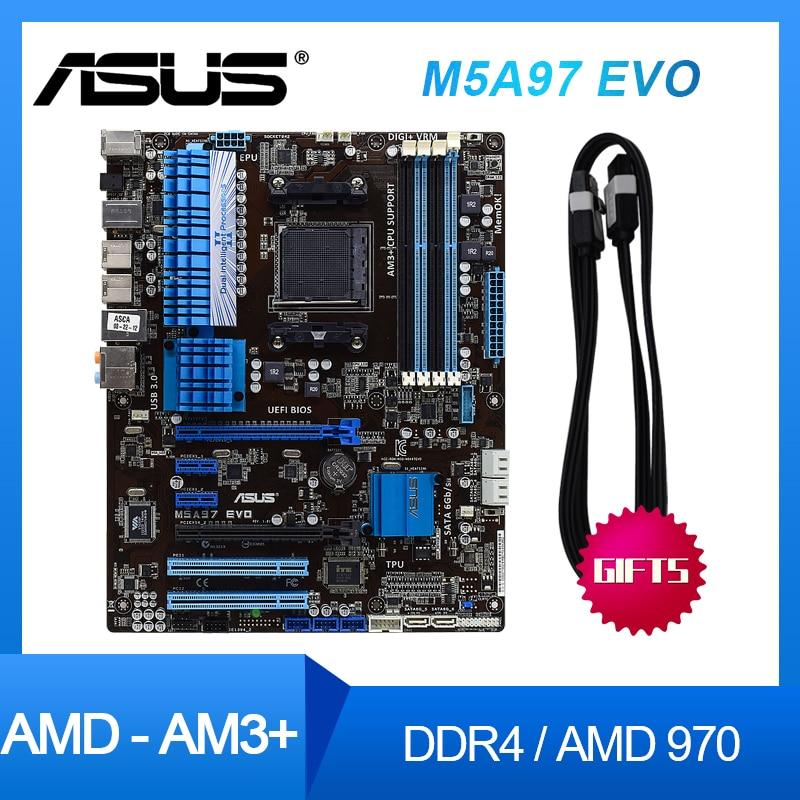 ASUS-placas base M5A97 EVO para ordenador de escritorio, placa base usada con...