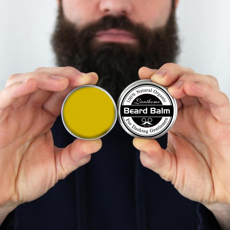 Бальзам для бороды небольшого размера, натуральный бальзам для бороды, для роста бороды, органический воск для усов, для плавного стайлинга бороды