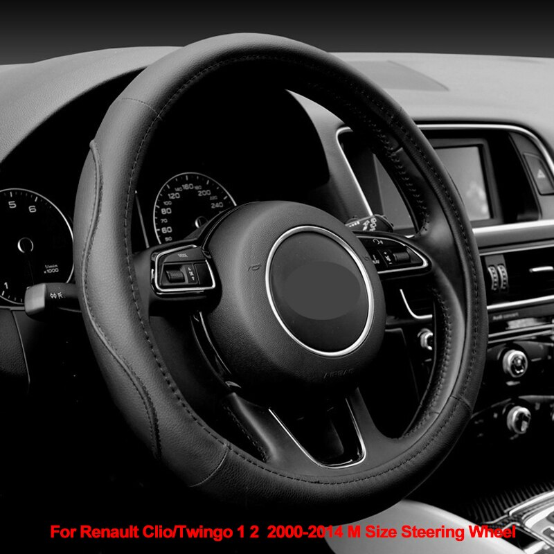 Car Steering Wheel Cover Wrap Funda Volante For Renault Clio / Twingo 1 2  2000 - 2014 M Size Braid on the Steering wheel Volant