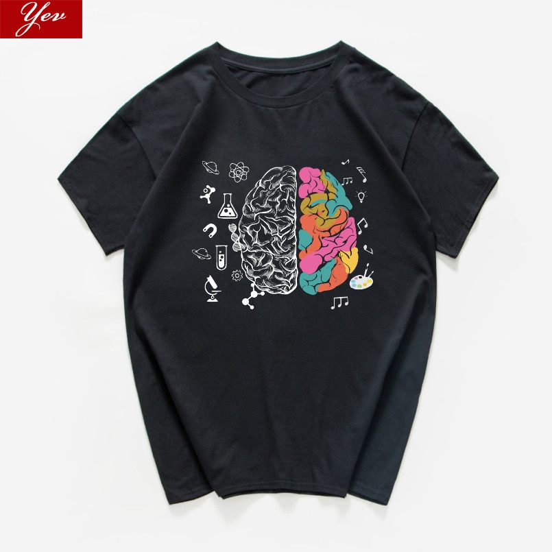Harajuku Geek Brain Футболка мужская Наука Химия биология география уличная Математика Физика крутая футболка забавная футболка homme