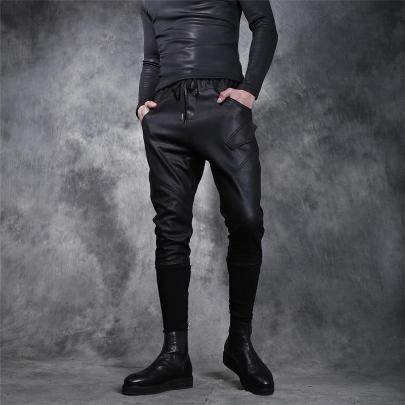 Winter Men's Plus Velvet Thick Tapered Pants Slim Trousers Hair Stylist with  Feet Pants Male Hip Hop Ropa De Hombre 2020