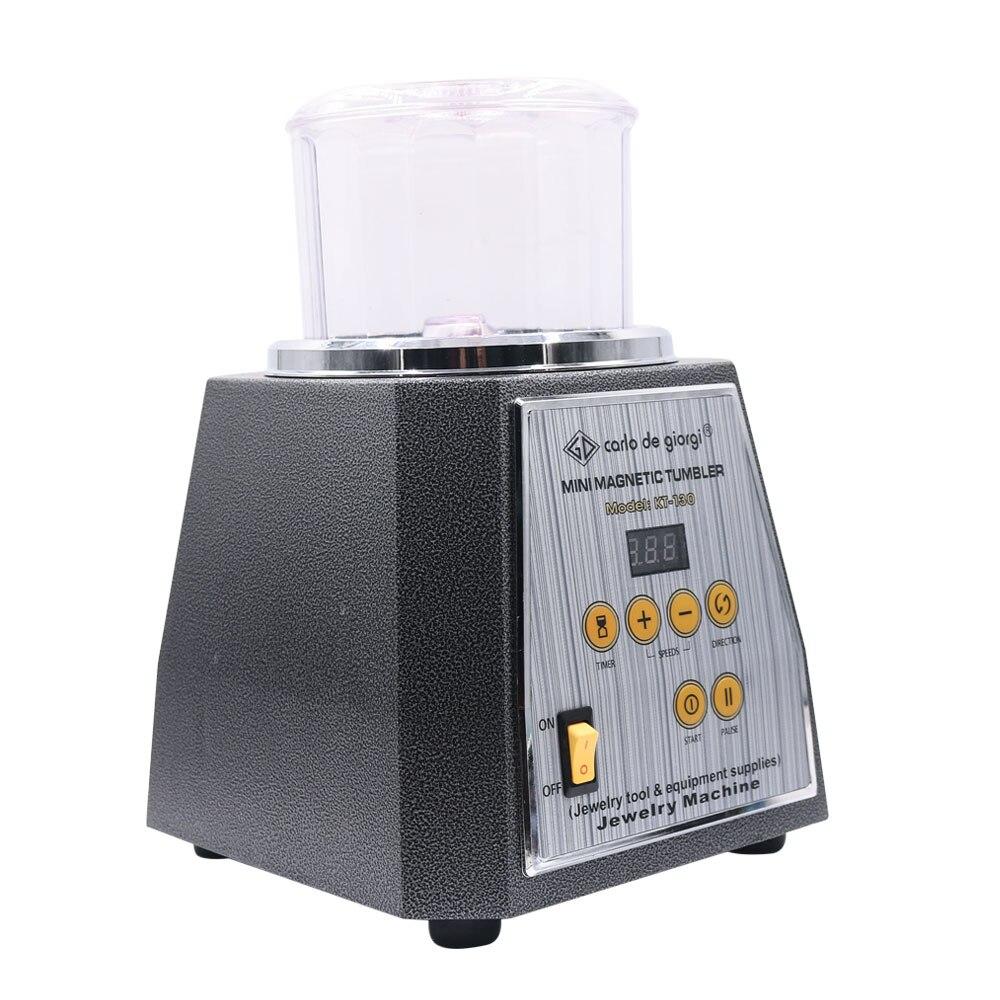 KT-130 Magnetic Tumbler Rotary Polisher Machine 220V And 110V With 200g Polishing Needle Jewelry Polishing Machine Equipment enlarge