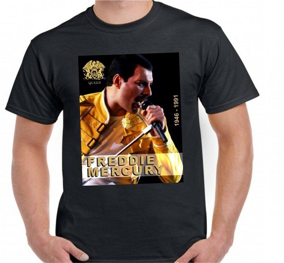 Freddie Mercury Tshirt Unisex - Vocalist Of The Rock Band Queen - 1946 - 1991 Printed Tee Shirt