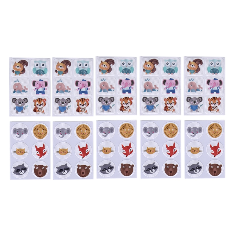 60pcs Mosquito Patch Square Cartoon Anti-Mosquito Repellent Patch Stickers For Children Toddler Infant Kids