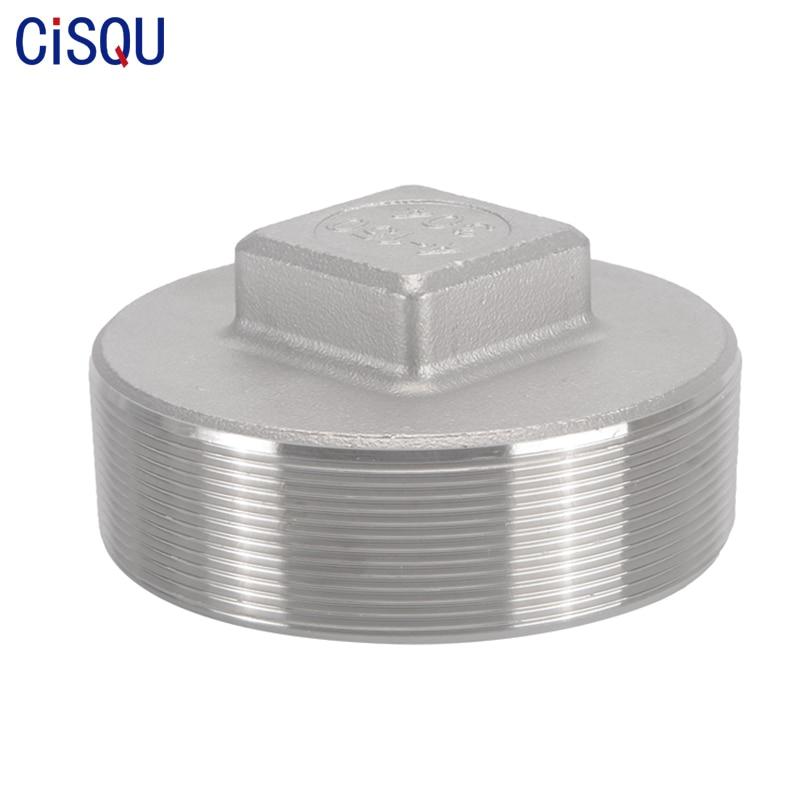 �������������� 2 �� 1 304 Stainless Steel Pipe Fittings Male Thread Plug 1/8'' 1/4'' 3/8'' 1/2'' 3/4'' 1'' 1-1/4'' 1-1/2'' 2'' 2-1/2'' 3'' 4''