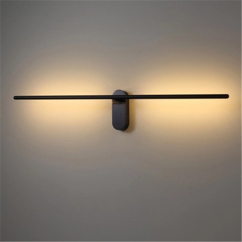 Lámpara de pared LED de tira minimalista largo moderno y nórdico, decoración creativa para salón, dormitorio, pasillo, lámpara de mesa para Hotel