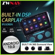 ZWNAV 2.5D IPS 4G + 64G Octa Core voiture Android 10 PX6 auto Radio lecteur multimédia pour Skoda Octavia 2007-2014 GPS Navigation