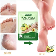 Avocado Exfoliating Foot Mask Scrub Exfoliation Pedicure Socks Feet Patch Remove Dead Skin Heels Fee