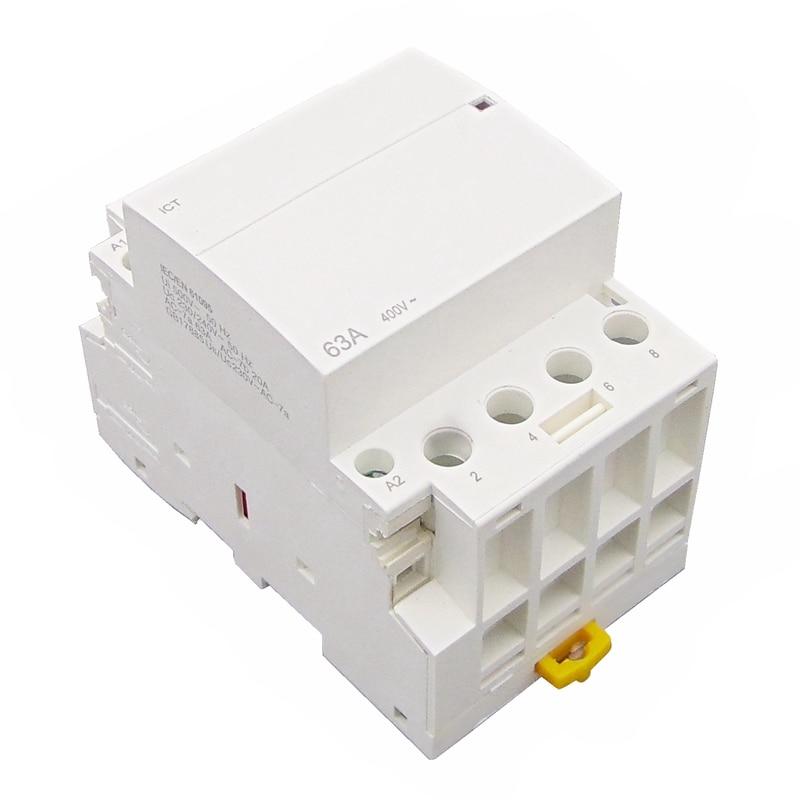 ICT 4P 63A 4NO 220 V/230 V 50/60HZ din-рейку AC контактор для дома