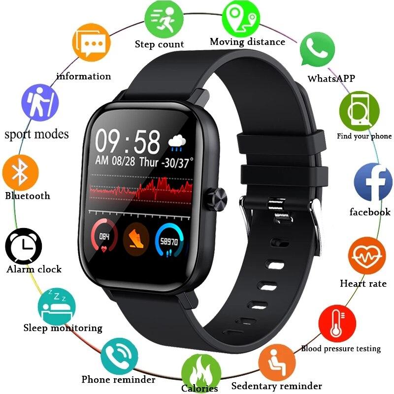 LIGE جديد الرجال ساعة ذكية معصمه الرجال النساء الرياضة ساعة مراقب معدل ضربات القلب النوم رصد بلوتوث دعوة Smartwatch للهاتف