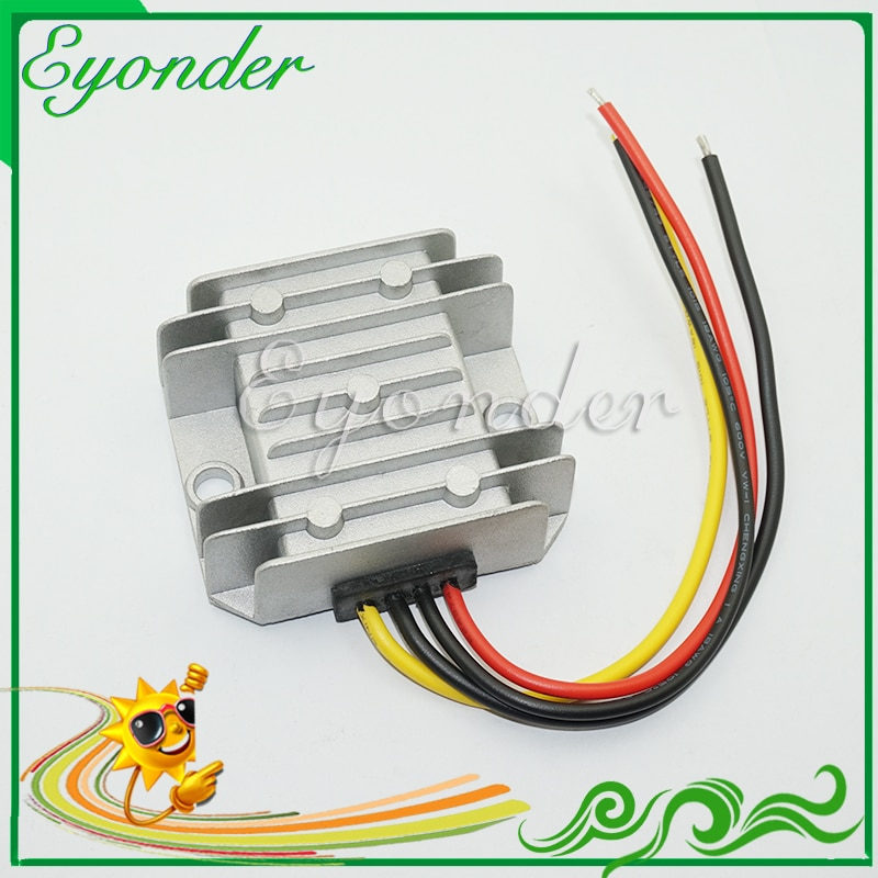 Eyonder 30 فولت 32 فولت 33 فولت 36 فولت 40 فولت 42 فولت 45 فولت 46 فولت 50 فولت 56 فولت 60 فولت 48 فولت تيار مستمر إلى 13.8 فولت 5a 70 واط محول طاقة تنحى باك مقاوم للماء وحدة