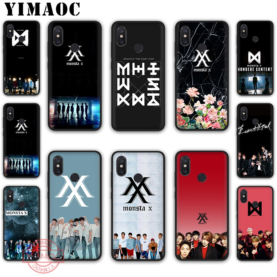 YIMAOC MONSTAX Monsta X kpop caso suave para Xiaomi mi 10 9 8 iPhone 6 A1 A2 A3 Lite F1 9T Pro CC9E Max 3