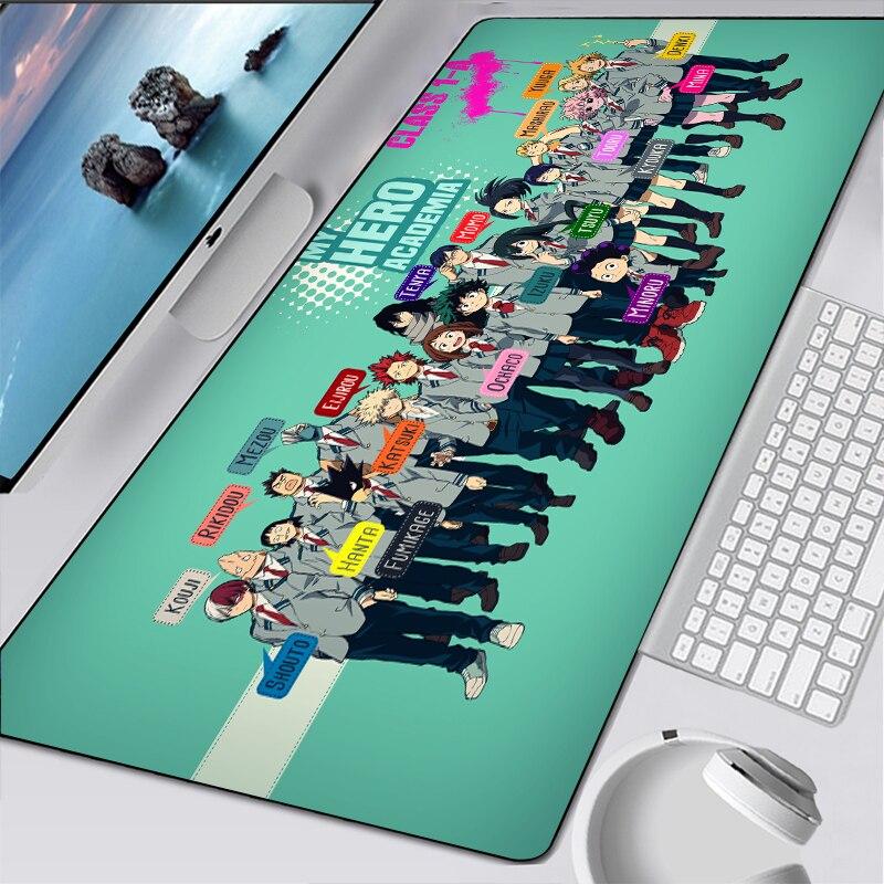 Большой коврик для мыши My Hero Академии XL, коврик для мыши для любителей аниме, игровой коврик для мыши, компьютерные аксессуары, большая клави...