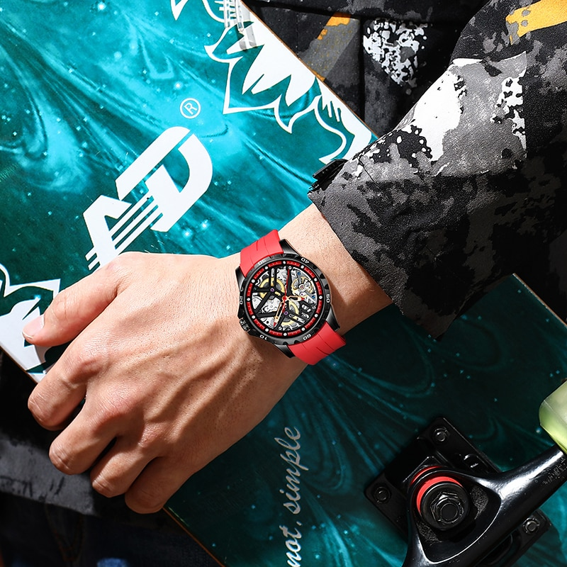 AILANG Luxury Brand Hollow High-End  Stainless Men's Mechanical Watch ModernClassic Fashion Waterproof Automatico Men's Watch enlarge