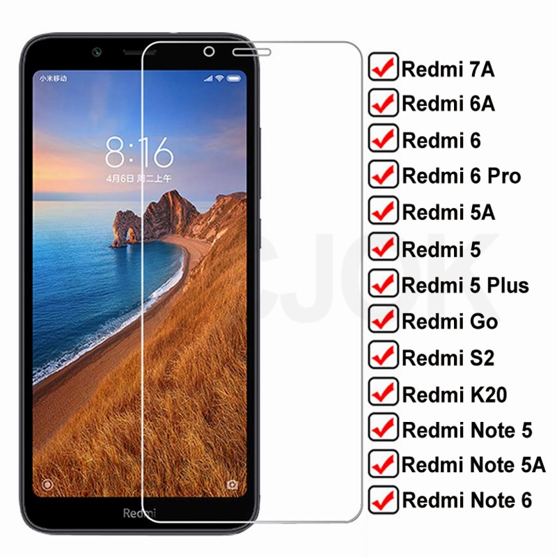 9H Tempered HD Glass For Xiaomi Redmi 7A 6A 5A Go S2 K20 Screen Protector Glas Redmi 5 Plus Note 5 5