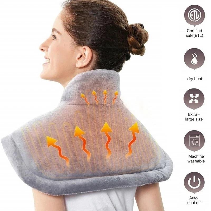 لوحة التدفئة الكهربائية الكتف دفئا حصيرة ساخنة بطانية حرارية الرقبة الظهر التدفئة شال التفاف الألم الإغاثة متحكم في درجة الحرارة