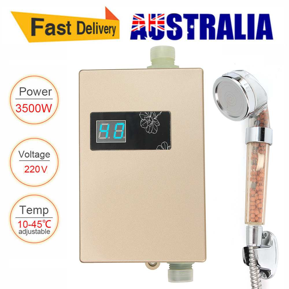 220V 3000W Electric Hot Tankless Water Heater Bathroom Kitchen Instant Water Heater Temperature disp