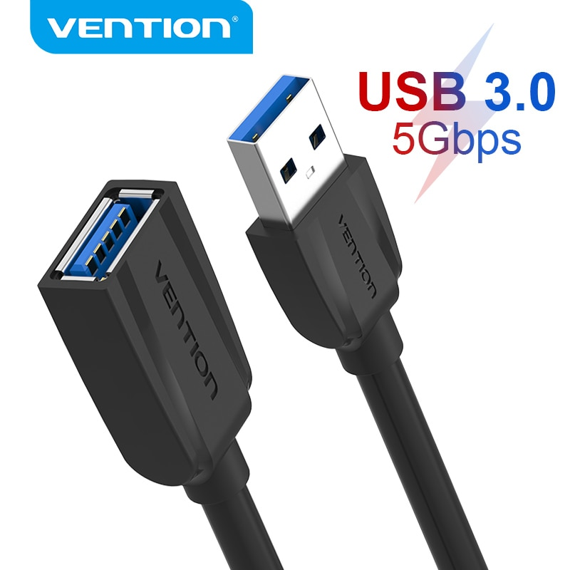Vention USB Cable de extensión USB 3,0 macho a hembra Cable 3,0...