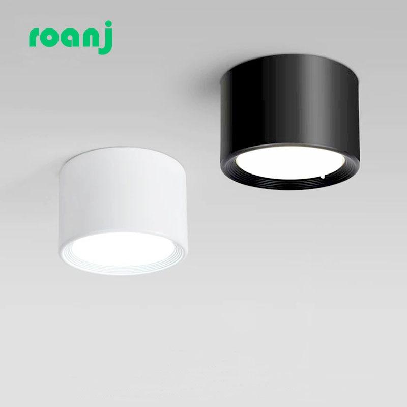 Montado en la superficie W 12W 15W LED downlight sin conductor lámparas...