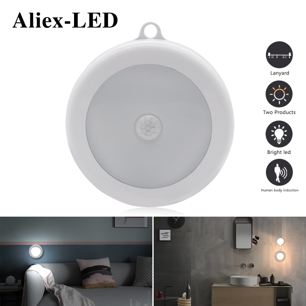 motion sensor lamp Night light bedroom decor 6LED Wireless PIR Infrared Human Sensing Lights Wall Closet Cabinet Stairs Lamps