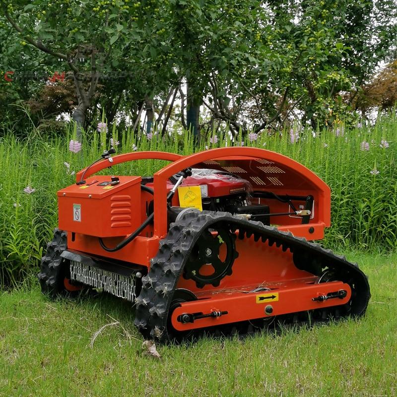 Garden Management Lawn Mower Small Remote Control Crawler Land Reclamation Weeding Machine Gasoline Power Planting Lawn Mower