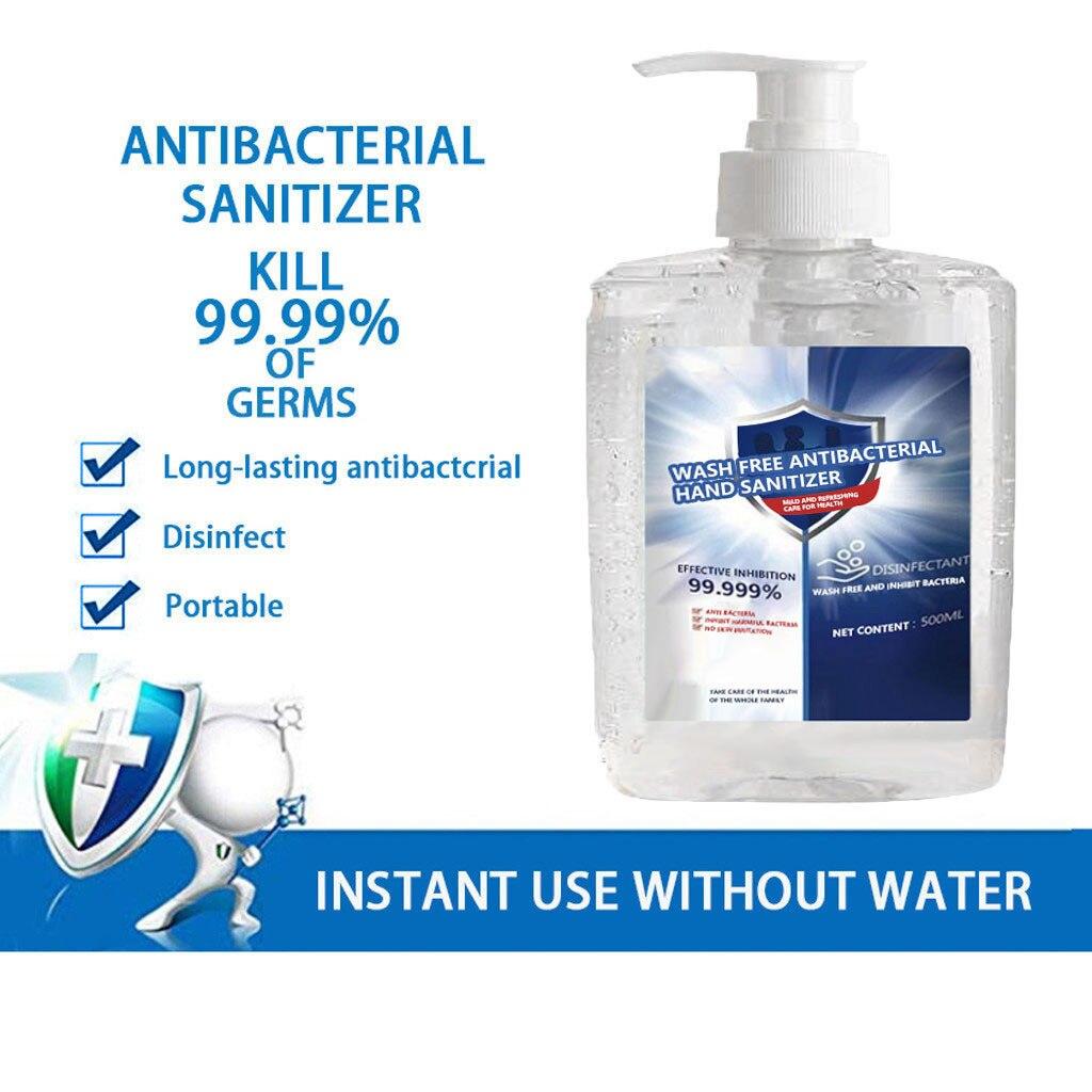 Mini desinfectante de manos portátil bacteriostático de 300ml, sin Alcohol, portátil, No lavar, Gel de mano, limpiador de manos portátil