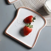 european style simple breakfast plate dood day toast plate ceramic dishes creative cream bread plate dessert plate tableware