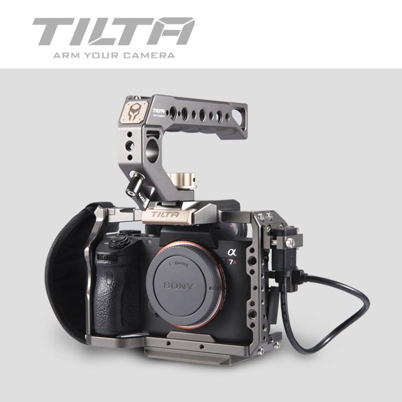 Tilta A7 A9 تزوير كيت A7 iii كامل قفص TA-T17-A-G لسوني A7 A9 A7III A7R3 A7M3 أعلى مقبض اللوح الأساس التركيز مقبض
