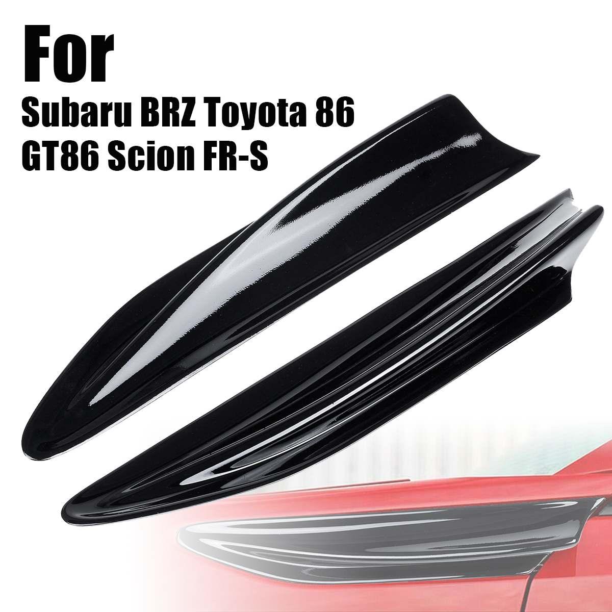2PCS/Set Carbon Fiber Side Fender Fin Vents For Subaru BRZ for Toyota 86 GT86 Scion FR-S