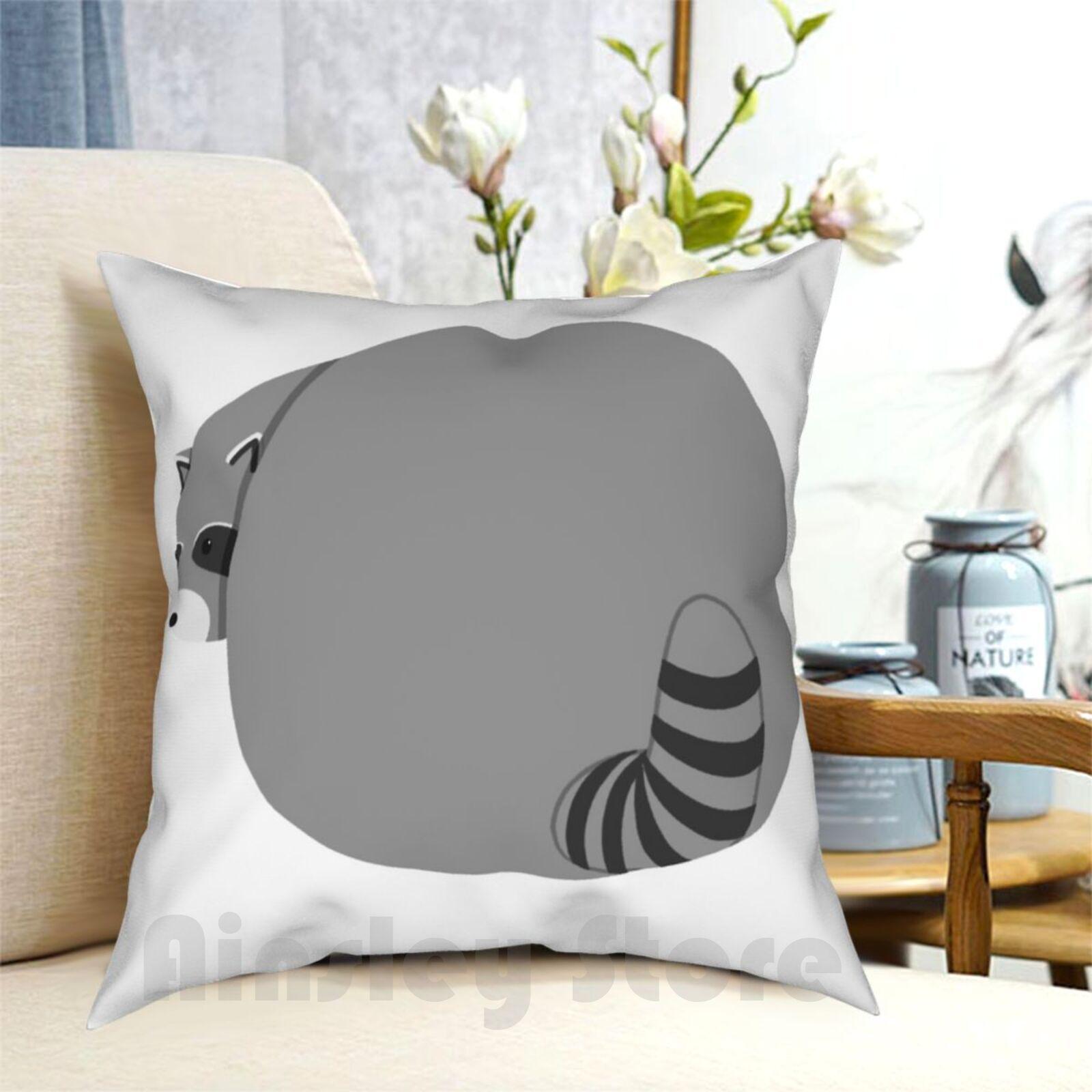 An Absolute Unit Raccoon Butt Pillow Case Printed Home Soft Throw Pillow Raccoon Cute Raccoon Fat Raccoon Chubby Raccoon