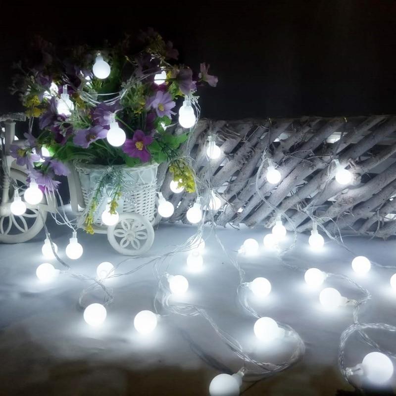 luzes de fadas led bola a pilhas luzes de natal led string luzes festao decoracoes