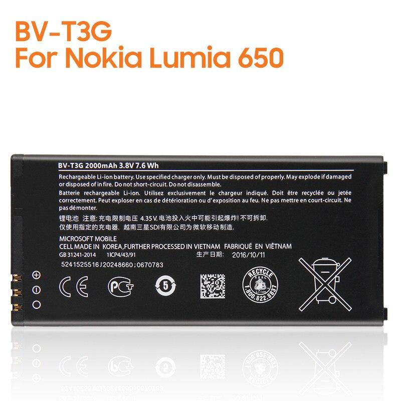 Yelping BV-T3G de la batería del teléfono para Nokia Microsoft Lumia 650...