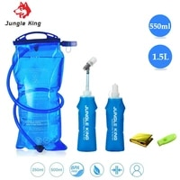 jungle king j12 soft flask water bottle folding collapsible water bags tpu free for running hydration pack waist bags 500ml