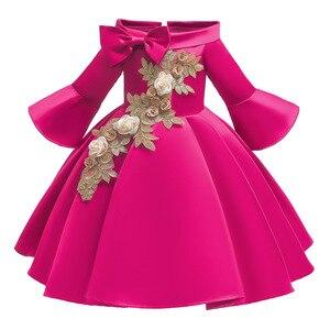 Girls Shoulderless Half Sleeve Gown Satin Elegant Lace Flower Girls Princess Formal Wedding Pageant Dresses