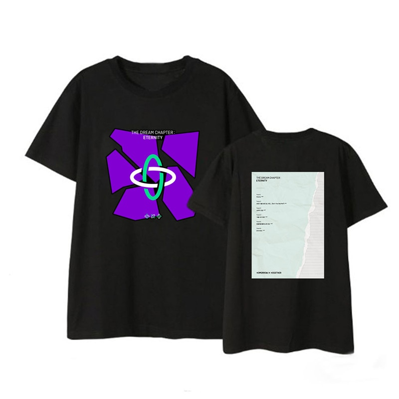 Camiseta Kpop TXT The Dream Chapter ETERNITY Album, ropa informal estilo Hip Hop, Camiseta holgada, camiseta de manga corta DX1440