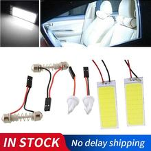 2 Pcs/Lot 36 LED s blanc lecture COB LED panneau lumineux 12V LED dôme ampoule voiture Parking Auto panneau intérieur Festoon lumière 50x20MM
