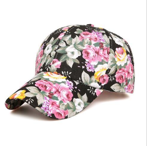 new flower beauty leaf hat mesh summer fashion baseball cap wild spring autumn visor caps Adjustable hats