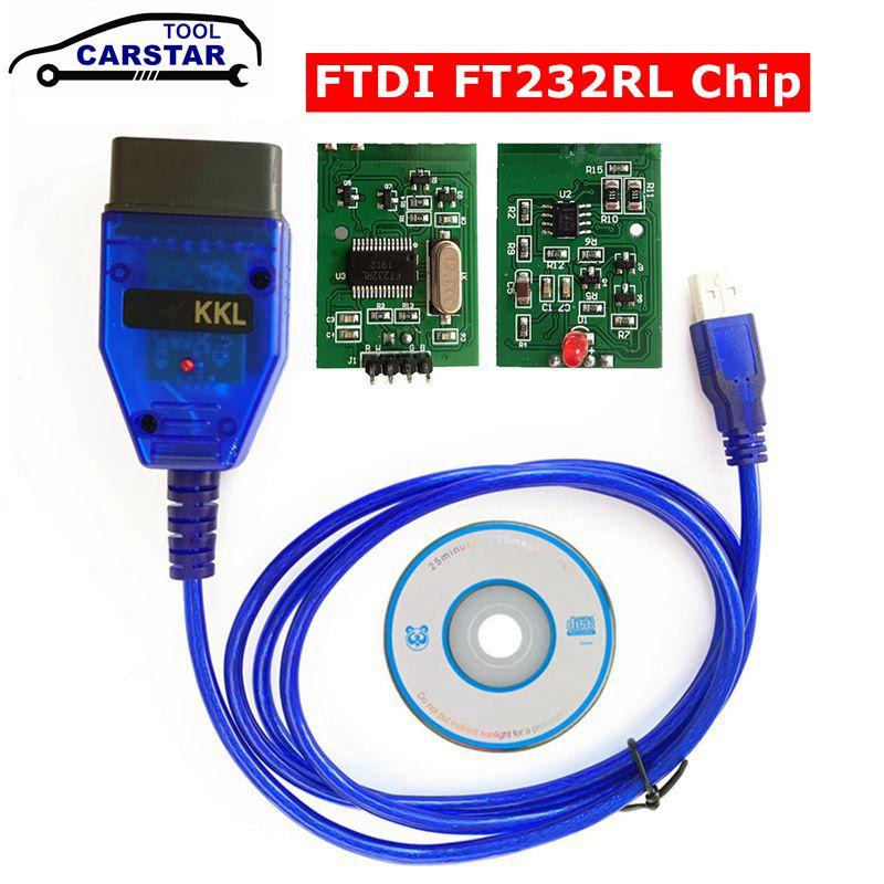 For VAG KKL Scanner Tool for VAG-KKL 409 with FTDI FT232RL Chip for vag 409 kkl OBD2 USB Interface Diagnostic Cable