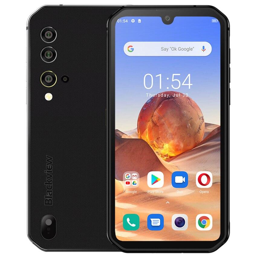 Перейти на Алиэкспресс и купить Blackview BV9900E 6 ГБ 128 NFC Android 10 Helio P90 прочный смартфон IP68 противоударный 4380 мА/ч, 48MP Камера мобильный телефон