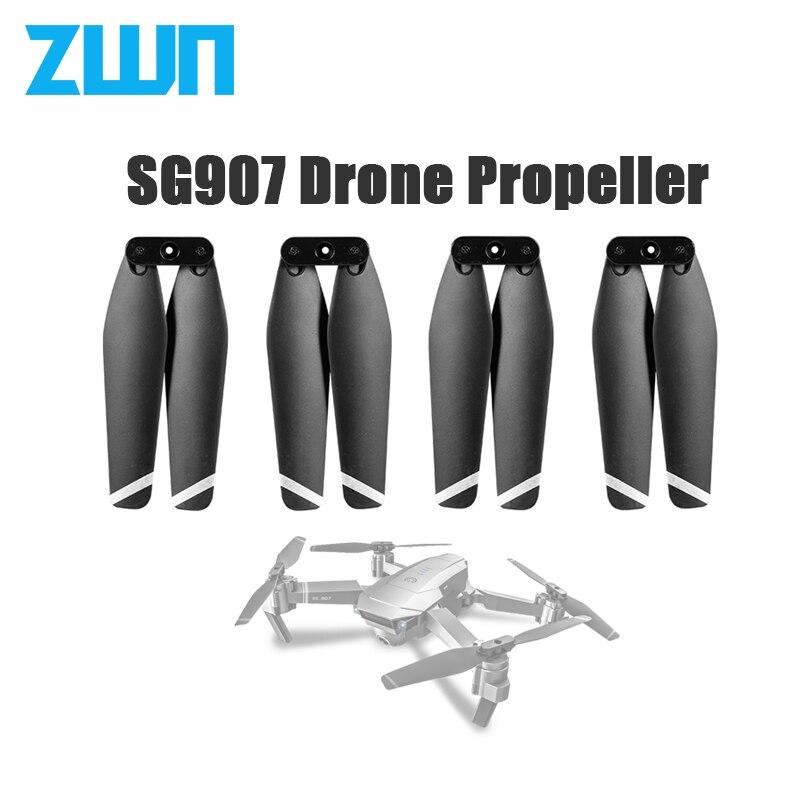 2 pares drone hélice liberação rápida hélices dobramento 4 hélice guarda conjunto quadro de proteção para sg901 sg907 rc quadcopter